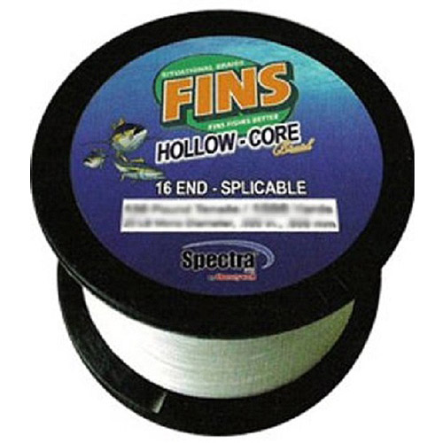 Fins Spectra Fishing Line, Hollow Core, White by Fins Spectra