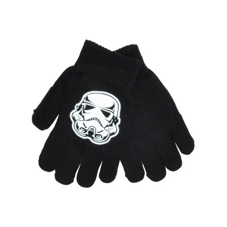 Boys Star Wars Stormtrooper Gloves Mittens Black - Stormtrooper Gloves
