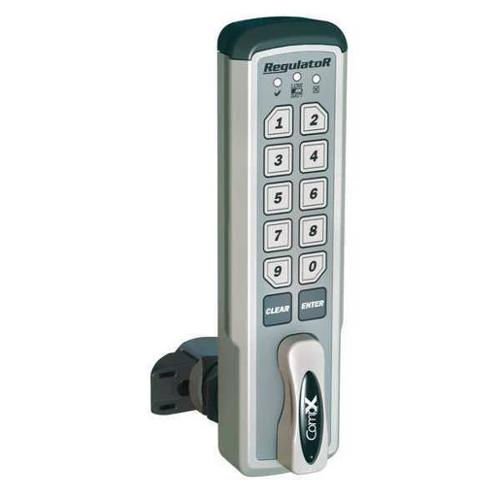 COMPX REGULATOR REG-S-V-3 Electronic Keyless Lock,Brushed Nickel G1836759