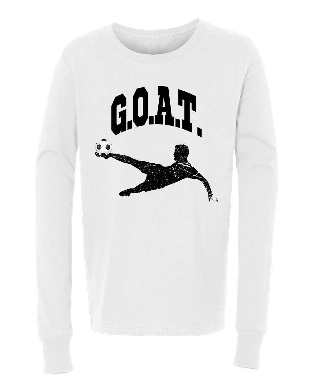 Greatest Of All Times G.O.A.T Soccer Youth Long Sleeve T-Shirt
