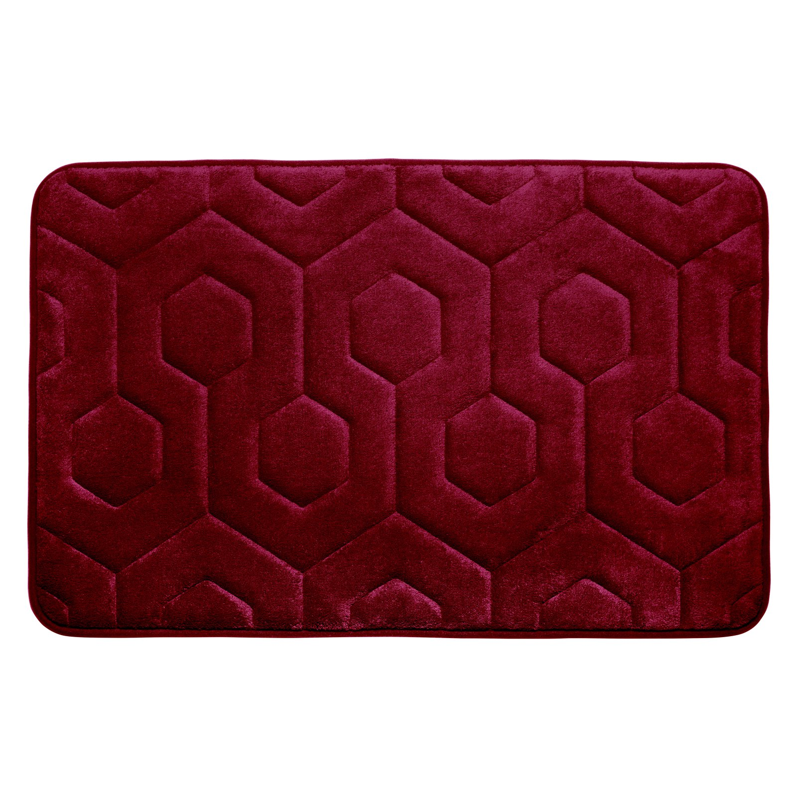 Bounce Comfort Hexagon Premium Memory Foam Bath Mat