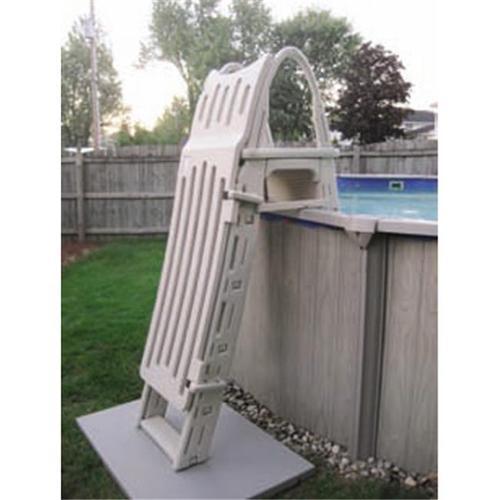 Confer Plastics G7200 A-Frame Ground Adjustable Pool Roll-Guard Safety Ladder