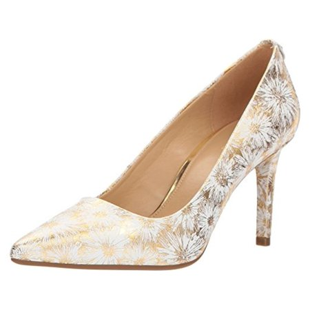 76cac0e855 MICHAEL Michael Kors - Michael Michael Kors Womens Dorothy Flex Pump  Leather Pointed Toe Classic Pumps - Walmart.com