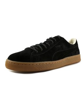 Product Image Puma Basket Classic Winterized Men Round Toe Suede Black  Sneakers 362a3fb4e