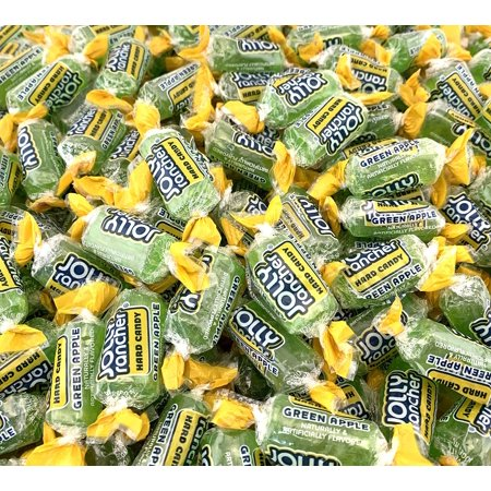 LaetaFood Bag - Jolly Rancher Green Apple Hard Candy, Fat Free (Pack of 2 Pounds)