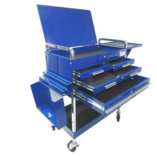 Sunex 8013ABLDLX Deluxe Service Cart-Blue