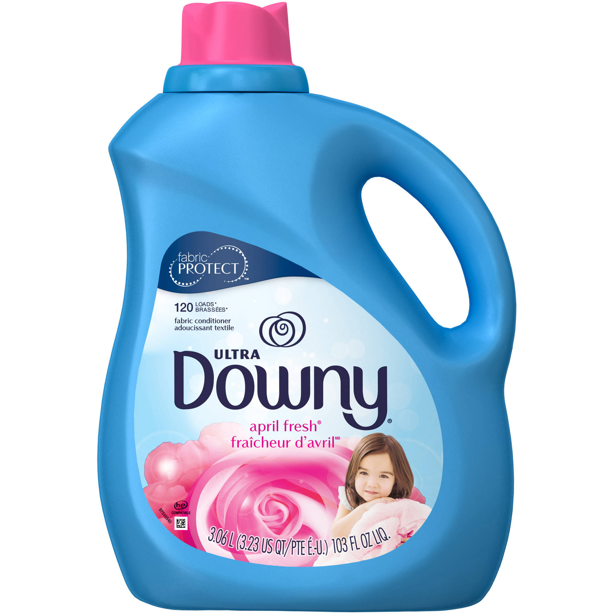 Ultra Downy Fabric Protect April Fresh Liquid Fabric Conditioner, 103 fl oz
