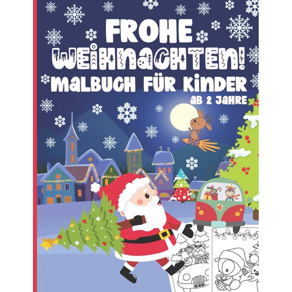 frohe weihnachten malbuch für kinder ab 2 jahre  50