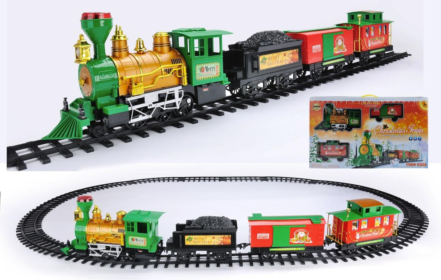 20-Piece Battery Operated Lighted & Animated Christmas Express Train Set  with Sound - Walmart.com