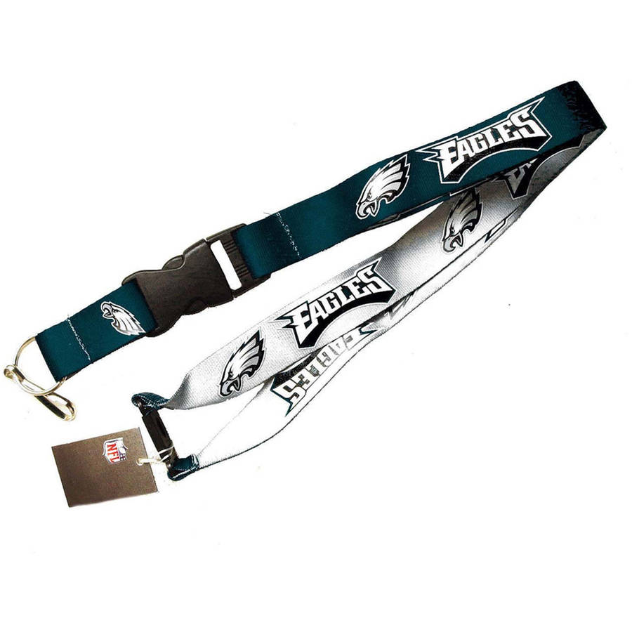 NFL Philadelphia Eagles Team Logo Reversible Lanyard Keychain
