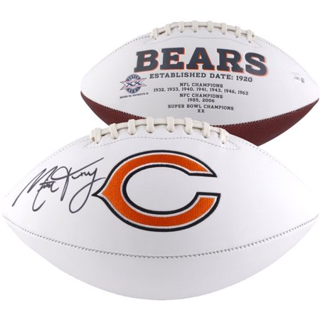 Mitchell Trubisky Chicago Bears Autographed White Panel Football - Fanatics Authentic Certified Mitchell Autographed Football