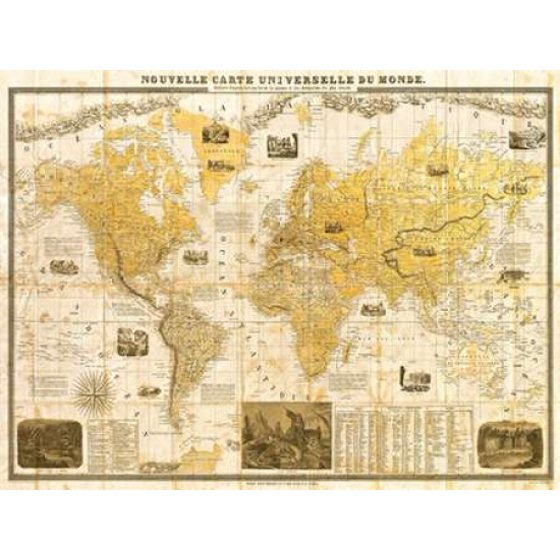 Gilded 1859 map of the world poster print by joannoo walmart gilded 1859 map of the world poster print by joannoo sciox Images