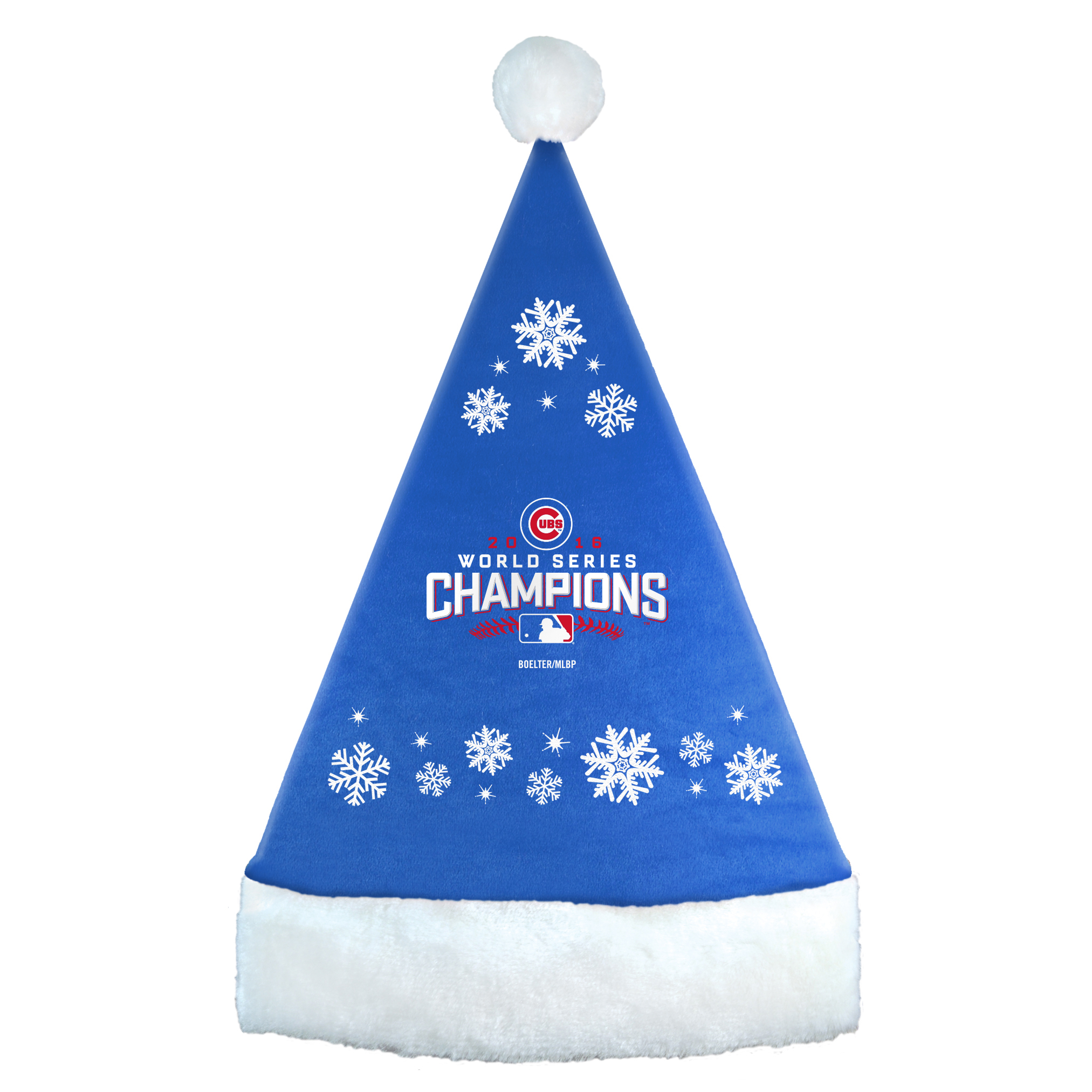 Chicago Cubs 2016 World Series Champions Snowflake Hat - No Size