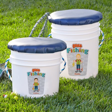 Personalized Fishing Buddies Fishing Pail, Available in 2 Sizes - Personalized Halloween Pails