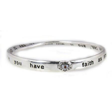 Christian Religious Scripture Jewelry Bracelet Luke 17:6 Mustard Seed... - Christian Jewelry Store