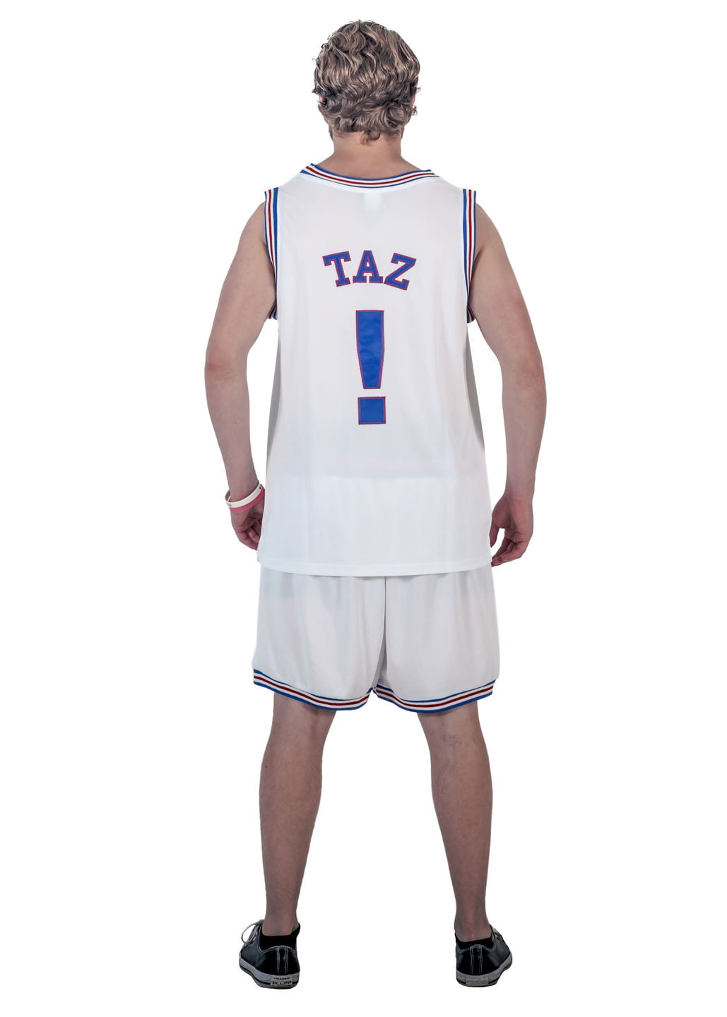 Space Jam Tune Squad Logo Sylvester #9 White Basketball Jersey