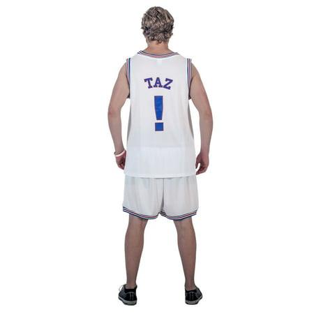 Duke Logo Jersey (Space Jam Tune Squad Logo TAZ #! White Basketball Jersey (Adult Large) )