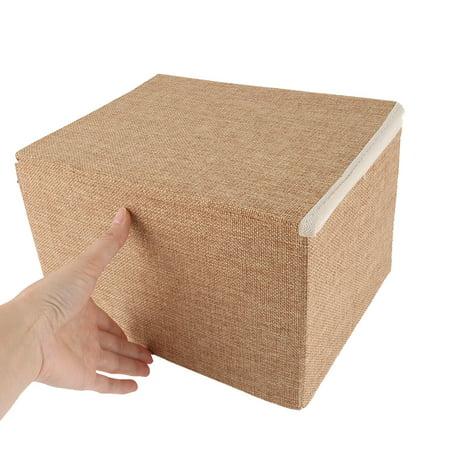 Household Cotton Linen Towel Socks Book Paper Holder Storage Box Organizer Khaki - image 1 of 5