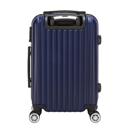 Hardside Travel 20 Aluminum Rolling Luggage Spinner Trolley Carry-On Suitcase Blue