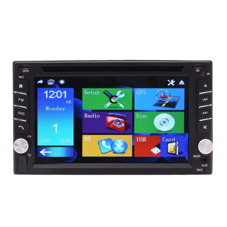 6.2 Inch High Quality Capacitive Touch Screen Double Din Car Navigation Stereo Bluetooth Universal Auto Entertainment Multimedia Radio,WiFi/BT Tethering Internet + Free GPS Map Card