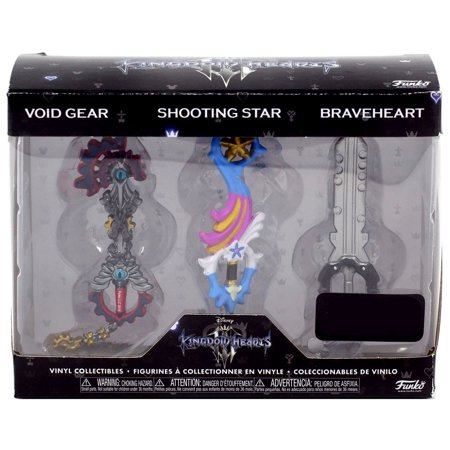 Funko Disney Kingdom Hearts 3 Keyblade Vinyl Collectible 3-Pack [Void Gear, Shooting Star &