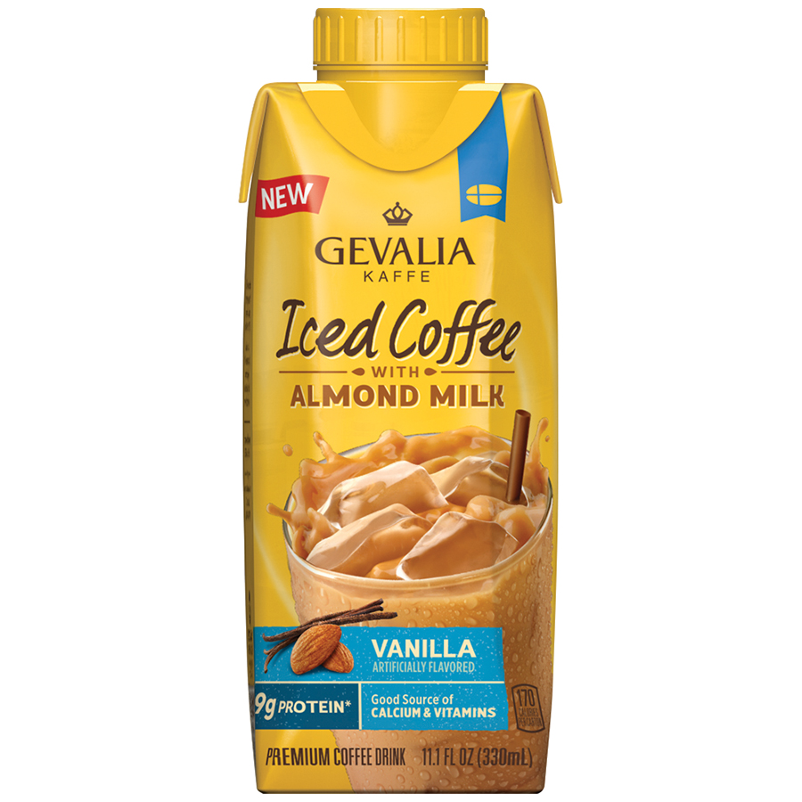 Gevalia Vanilla Iced Coffee with Almond Milk 11.1 fl. oz. Aseptic Pack