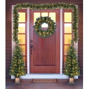 holiday time christmas decor pre lit 5 piece entryway set clear lights