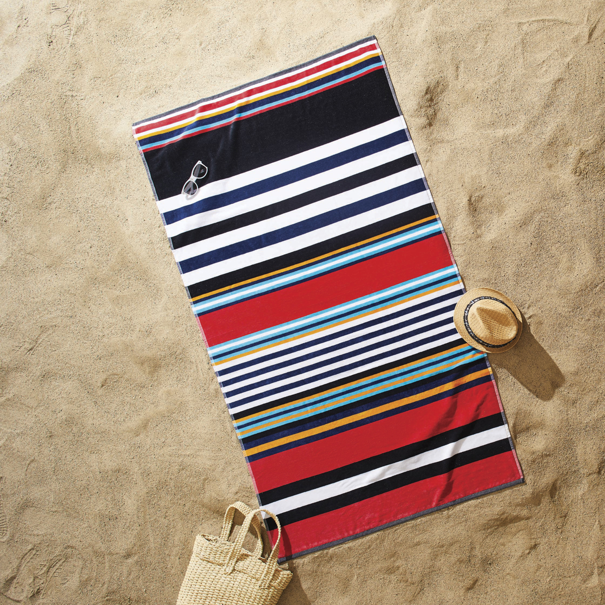 Better Homes and Gardens Horizontal Multi Striped Oversized Beach Towel
