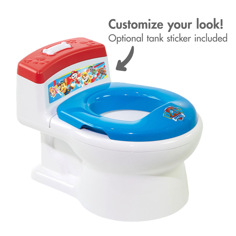 Potty Training Toilet for Toddler Girls w// Realistic Flush Sounds Wipe Dispenser