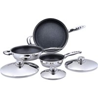 Precise Heat? 6pc High-Quality, Heavy-Gauge Stainless Steel Non-Stick Skillet Set