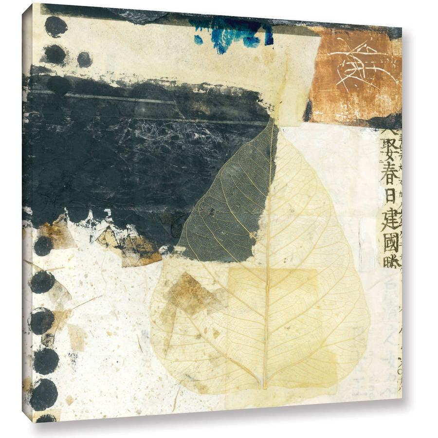 """ArtWall Elena Ray """"Wabi-Sabi Bodhi Leaf Collage 2"""" Gallery-wrapped Canvas"""