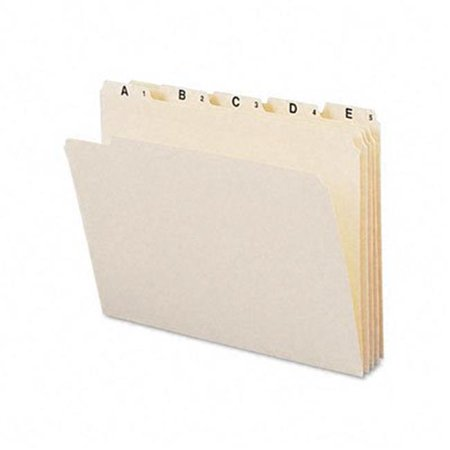 Indexed File Folders- 1/5 Cut- Indexed A-Z- Top Tab- Ltr- Manila- 25/Set (1/5 Cut Top Tabs)