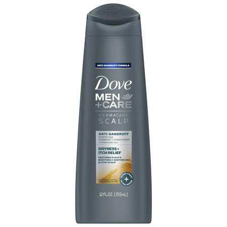 Dove Men+Care Dermacare Scalp 2 in 1 Shampoo & Conditioner Dryness + Itch Relief 12 oz