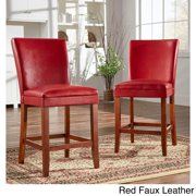 Tribecca Home Parson Classic Upholstered Counter Height High Back Chairs by  (Set of 2)