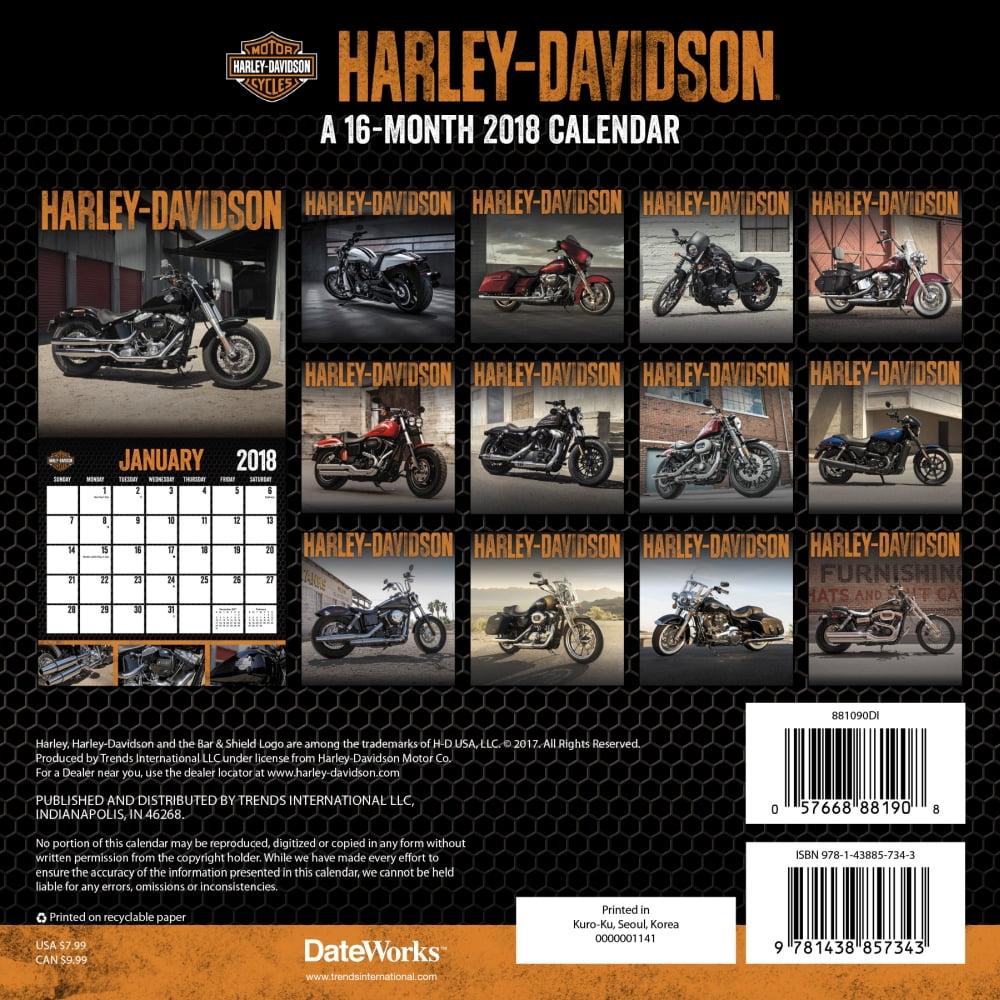 Harley Davidson Mini Wall Calendar Motorcycles By Calendars
