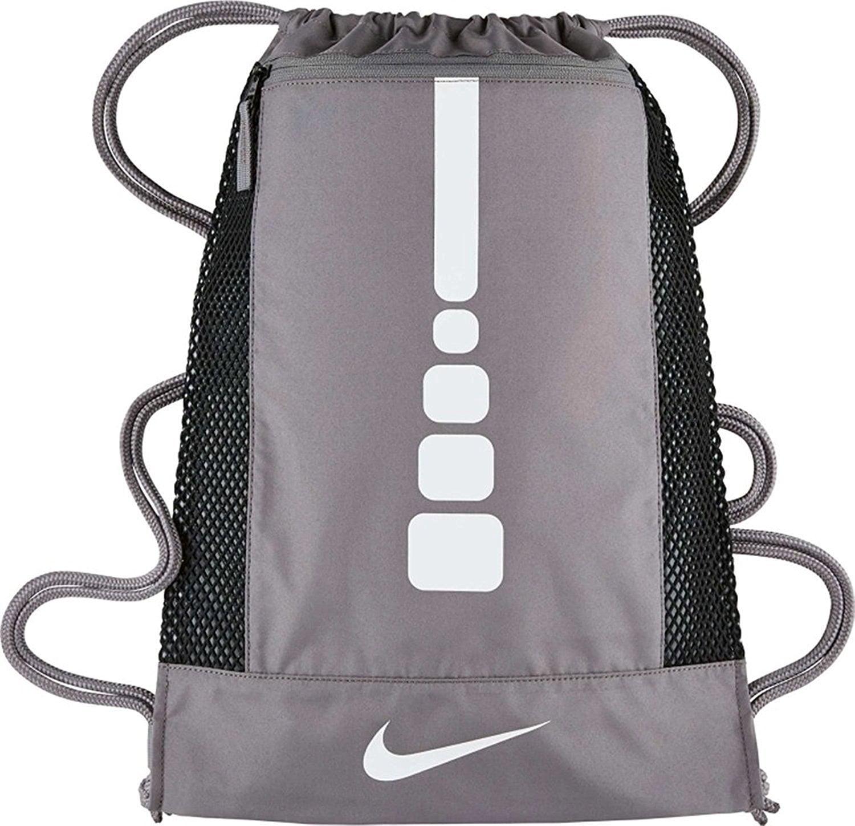 Mens Hoops Elite Basketball Gym Sack Charcoal/Charcoal/White One Size