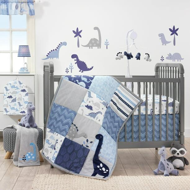 Bedtime Originals Roar Dinosaur 3 Piece, Black And White Dinosaur Baby Bedding