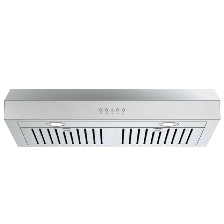 Gymax 30'' Under Cabinet Kitchen Range Hood Stainless Steel w/ LED lights 3-Speed