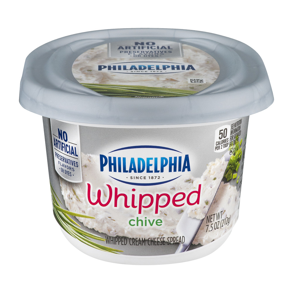 Philadelphia Whipped Cream Cheese Spread Chive, 7.5 OZ
