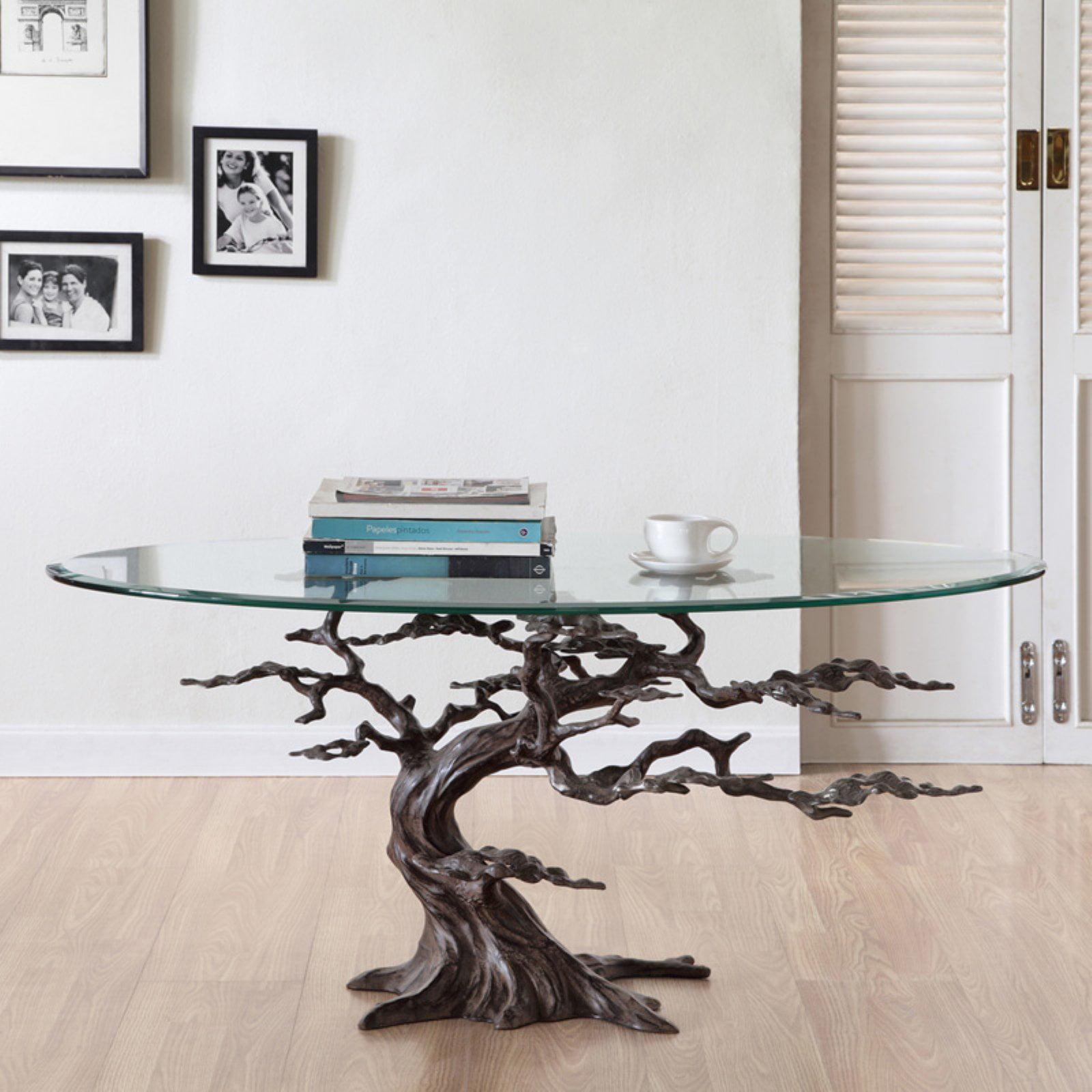 San Pacific International Cypress Tree Coffee Table