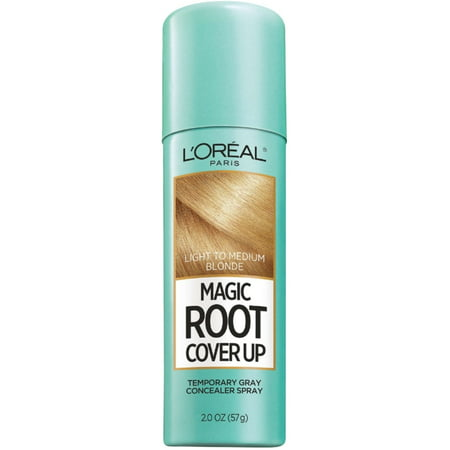 L'Oreal Paris Root Cover Up Temporary Gray Concealer Spray, Light to Medium Blonde, 2 oz (Pack of