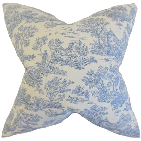 The Pillow Collection Ramira Toile Euro Sham Denim ()