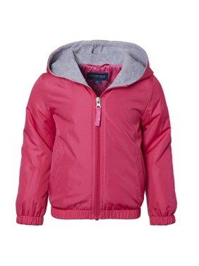 Cherokee Toddler Girl Fleece Lined Windbreaker Jacket