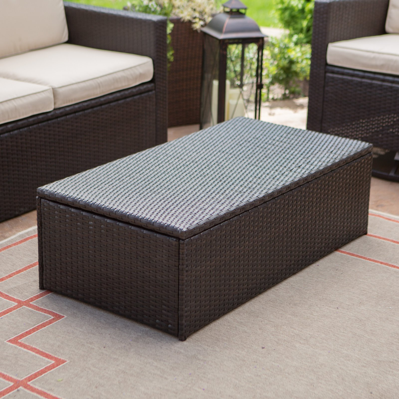 Coral Coast Berea Outdoor Wicker Storage Coffee Table by Modern Marketing Concepts Inc