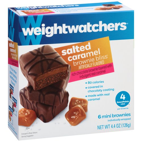 Weight Watchers Salted Caramel Brownie Bliss Mini Brownies, 6 count, 4.4 oz