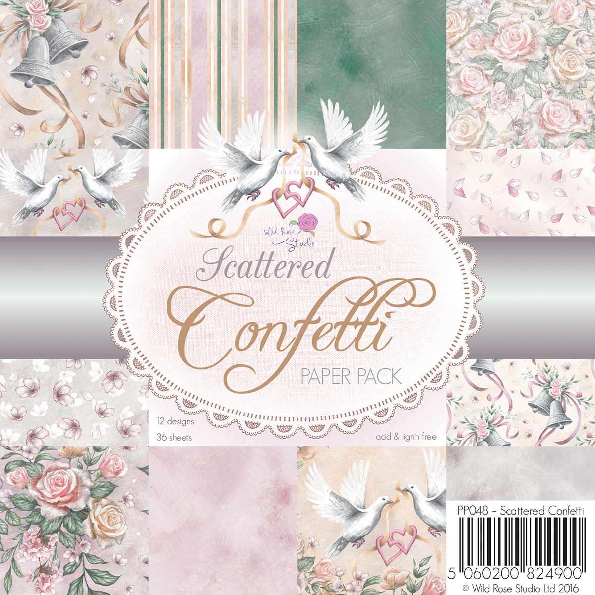 "Wild Rose Studio Ltd. Single-Sided Paper Pack 6""X6"" 36/Pkg-Scattered Confetti"
