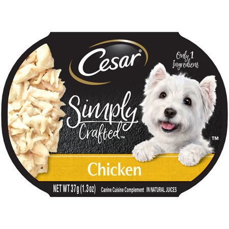 Halloween Food Crafts Pinterest ((10 Pack) CESAR SIMPLY CRAFTED Adult Wet Dog Food Cuisine Complement, Chicken, 1.3 oz.)