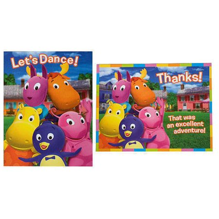 Backyardigans Party Invitations - Backyardigans Invitations and Thank You Notes w/ Env. (8ct ea.)