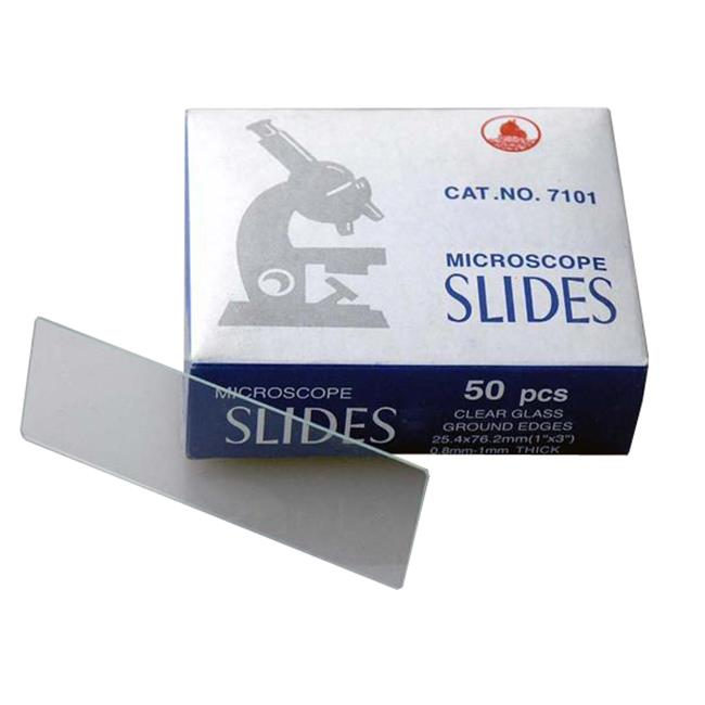 AmScope BS-50 50 Blank Microscope Slides With Ground Edges