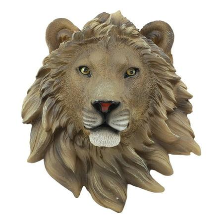 Ebros Simba Safari King Of The Jungle Lion Head Wall Decor Plaque 9.25